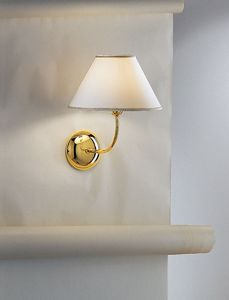 Picture of ANTEA LUCE HOTELS BRASS WALL LIGHT WITH SHADE