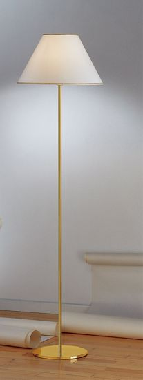 Picture of ANTEA LUCE HOTELS BRASS FLOOR LAMP WITH SHADE