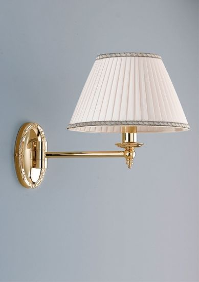 Picture of ANTEA LUCE GRAND HOTEL BRASS WALL LIGHT WITH SHADE
