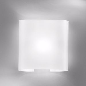 Picture of ANTEA LUCE TAYITA WHITE GLASS WALL LAMP 1 LIGHT 24CM