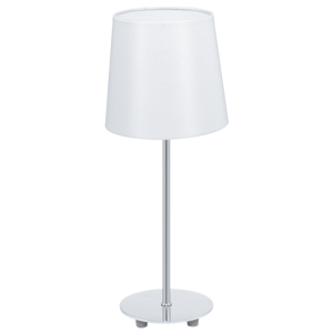 Picture of WHITE BEDSIDE LAMP WITH LAMPSHADE