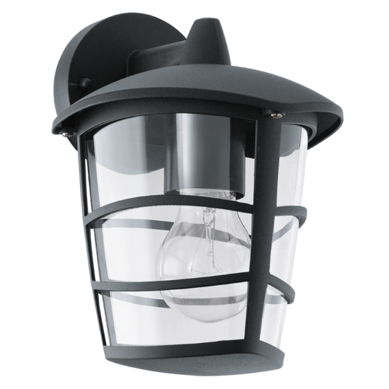 Picture of EGLO ALORIA OUTDOOR WALL LIGHT BLACK LANTERN IP44