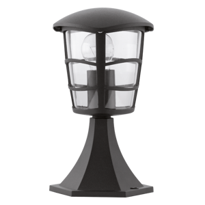 Picture of EGLO BLACK OUTDOOR PEDESTAL LAMP 30CM