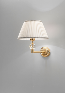 Picture of ANTEA LUCE GRAND HOTEL BRASS AND CRYSTAL WALL LAMP WITH SHADE