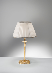 Picture of ANTEA LUCE GRAND HOTEL BRASS BEDSIDE LIGHT WITH SHADE