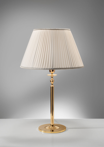 Picture of ANTEA LUCE GRAND HOTEL BRASS TABLE LAMP WITH SHADE