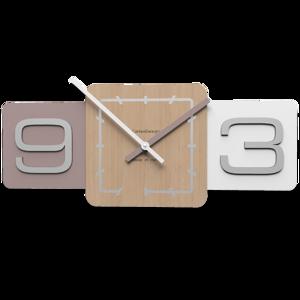 Picture of CALLEA DESIGN MODERN WALL CLOCK SIXTY PLUM GREY