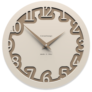 Picture of CALLEA DESIGN MODERN WALL CLOCK LABYRINTH FLAX