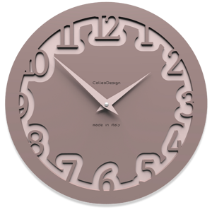 Picture of CALLEA DESIGN MODERN WALL CLOCK LABYRINTH PLUM GREY
