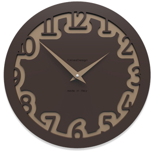 Picture of CALLEA DESIGN MODERN WALL CLOCK LABYRINTH CHOCOLATE