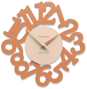 Picture of CALLEA DESIGN MODERN WALL CLOCK MAT TERRACOTTA