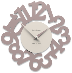 Picture of CALLEA DESIGN MODERN WALL CLOCK MAT PLUM GREY