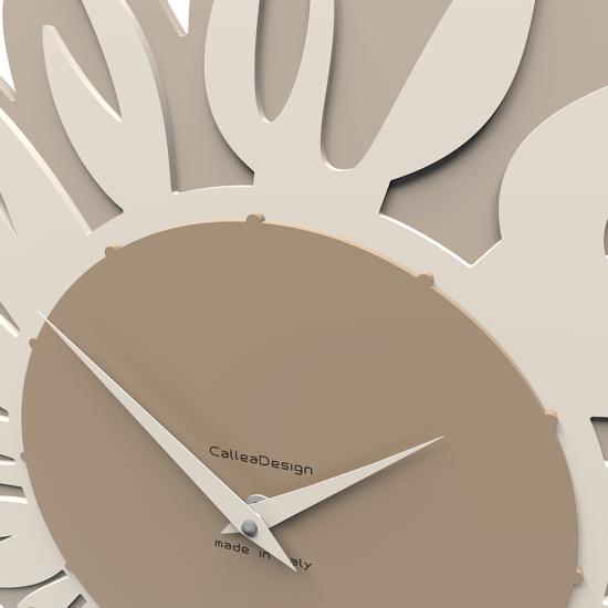 Picture of CALLEA DESIGN MODERN WALL CLOCK SUNFLOWER CAFFELATTE