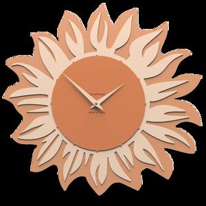 Picture of CALLEA DESIGN MODERN WALL CLOCK SUNFLOWER TERRACOTTA