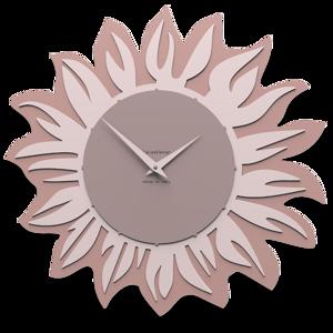 Picture of CALLEA DESIGN MODERN WALL CLOCK SUNFLOWER PLUM GREY