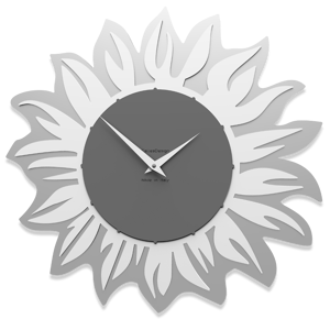 Picture of CALLEA DESIGN MODERN WALL CLOCK SUNFLOWER QUARTZ GREY