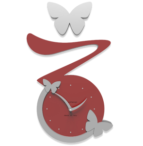 Picture of CALLEA DESIGN BUTTERFLY CLOCK RUBY