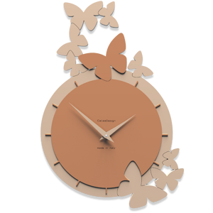 Picture of CALLEA DESIGN DANCING BUTTERFLY WALL CLOCK TAN
