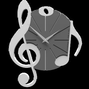 Picture of CALLEA DESIGN WALL CLOCK VIVALDI MUSICAL NOTE WHITE