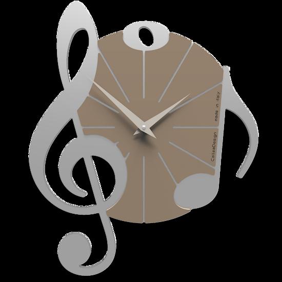 Picture of CALLEA DESIGN WALL CLOCK VIVALDI MUSICAL NOTE ALUMINIUM