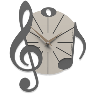 Picture of CALLEA DESIGN WALL CLOCK VIVALDI MUSICAL NOTE QUARTZ GREY