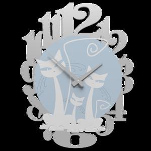 Picture of CALLEA DESIGN 3 CATS MODERN WALL CLOCK WHITE