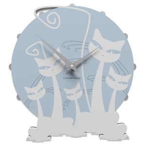 Picture of CALLEA DESIGN MODERN WALL CLOCK WITH 3 CATS WHITE