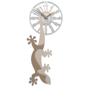 Picture of CALLEA DESIGN HANGING GECKO MODERN WALL CLOCK SAND