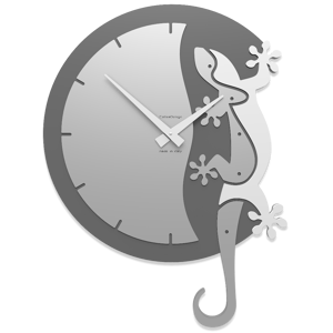 Picture of CALLEA DESIGN HANGING GECKO MODERN WALL CLOCK WHITE