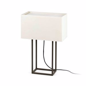 Picture of FARO VESPER BROWN TABLE LAMP WITH BEIGE SHADE