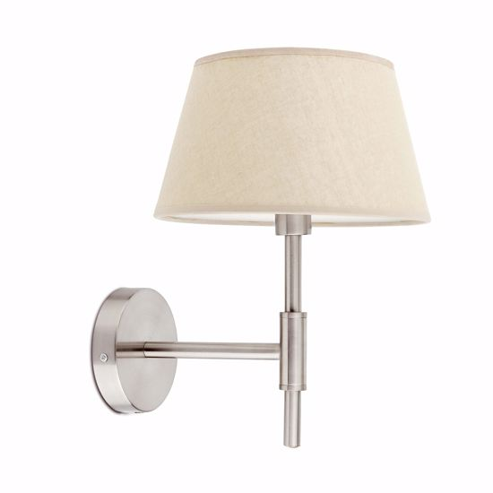 Picture of FARO MITIC WALL LAMP NICKEL WITH BEIGE SHADE