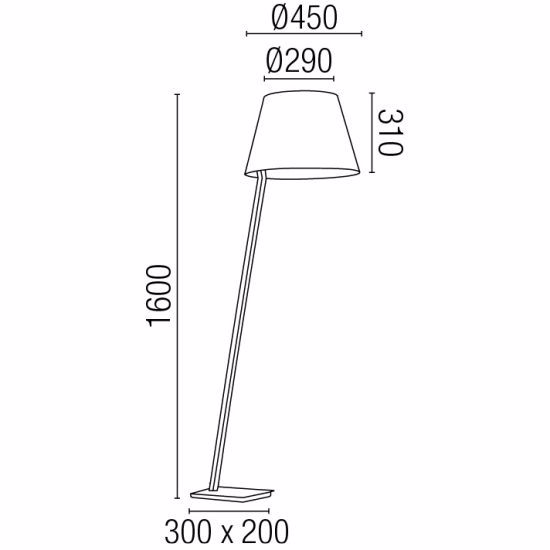 Picture of FARO MOMA CHROME METAL FLOOR LAMP WITH WHITE SHADE