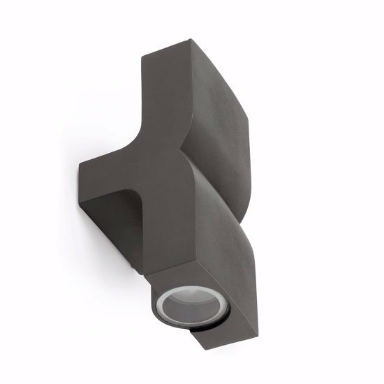 Picture of FARO KLAMP OUTDOOR WALL LAMP GREY 2 LIGHTS