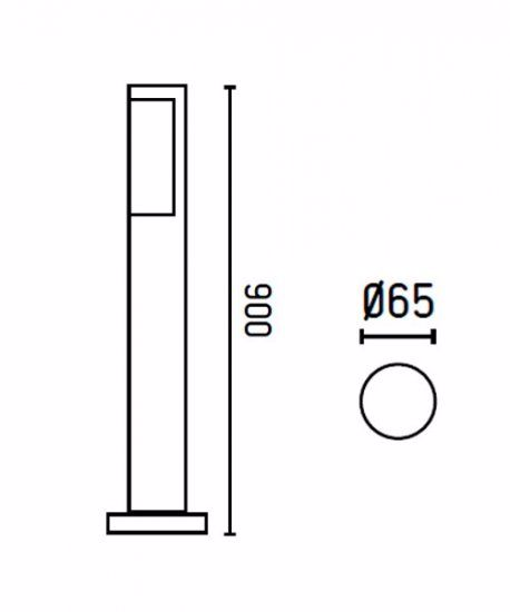 Picture of FARO OUTDOOR BEACON LAMP BERET LED 90CM 8W 4000K DRIVER INCL