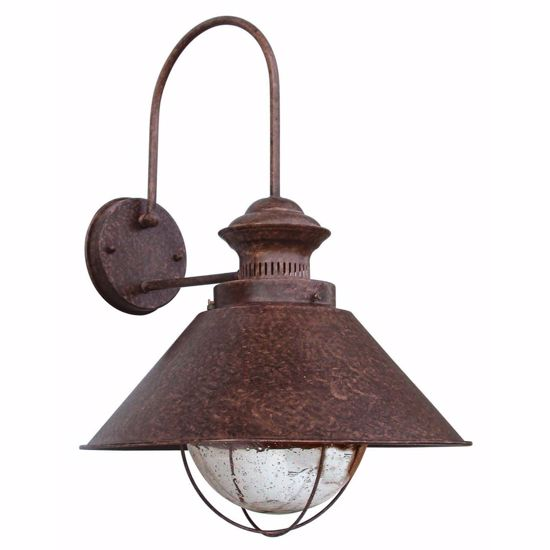 Picture of FARO NAUTICA RUSTIC WALL LAMP IN BROWN METAL Ø26CM