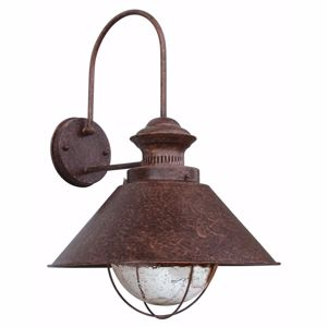 Picture of FARO NAUTICA RUSTIC WALL LAMP IN BROWN METAL Ø34CM