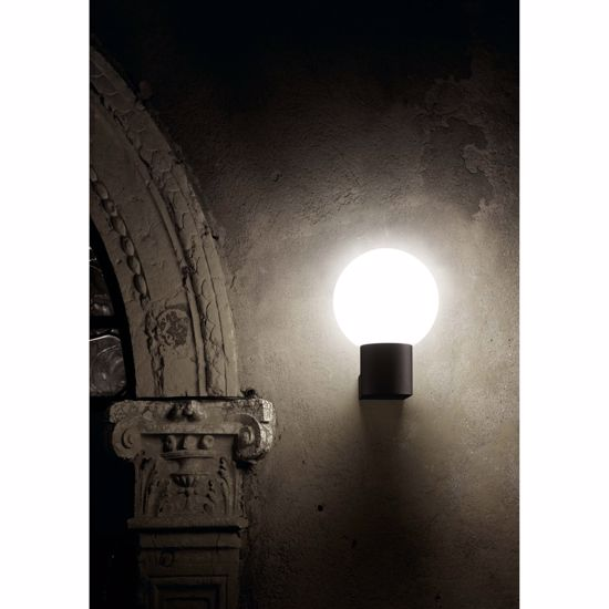 Picture of FARO MOON OUTDOOR WALL LAMP WHITE SPHERE