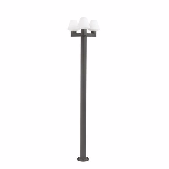 Picture of FARO MITSU OUTDOOR POLE LAMP FOR GARDEN 3 LIGHTS