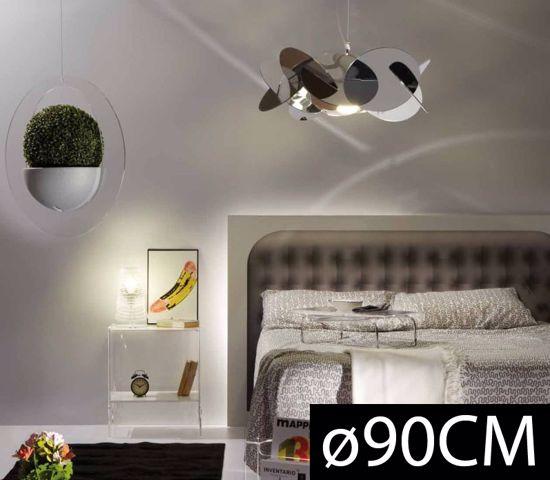 Picture of EMPORIUM SUSPENSION MAXI BEA Ø90 3 LIGHT CROMOLITE