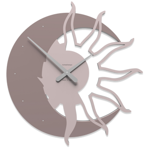 Picture of CALLEA DESIGN MODERN WALL CLOCK SUN & MOON PLUM GREY