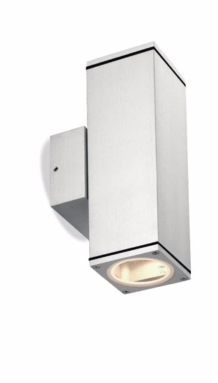 Picture of OUTDOOR ALUMINIUM SQUARE WALL LAMP 2 LIGHTS