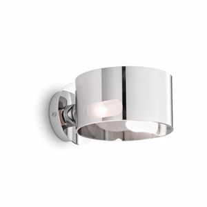 Picture of IDEAL LUX ANELLO WALL LAMP IN CHROME GLASS AP1