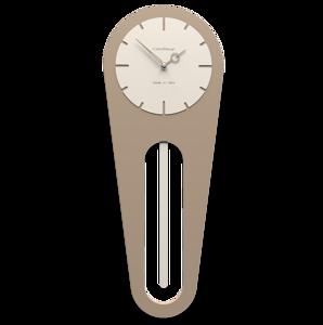Picture of CALLEA DESIGN MODERN WALL CLOCK PENDULUM SALLY CAFFELATTE