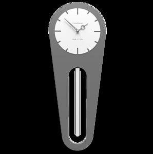 Picture of CALLEA DESIGN MODERN WALL CLOCK PENDULUM SALLY QUARTZ GREY