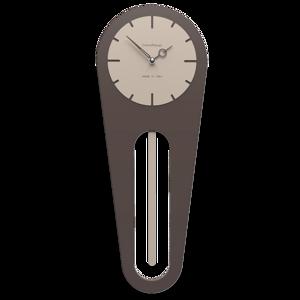 Picture of CALLEA DESIGN MODERN WALL CLOCK PENDULUM SALLY CHOCOLATE