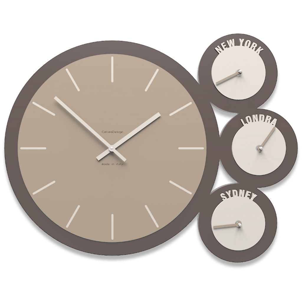 Wall Clock Time Zones Modern Design