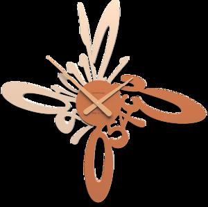 Picture of CALLEA DESIGN HARMONIC MODERN WALL CLOCK TERRACOTTA