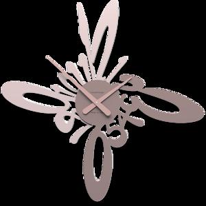 Picture of CALLEA DESIGN HARMONIC MODERN WALL CLOCK PLUM GREY
