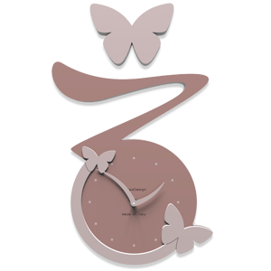 Picture of CALLEA DESIGN BUTTERFLY CLOCK CLOUD PINK