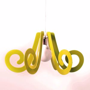 Picture of MODERN PENDANT LIGHT FOR CHILDREN'S ROOM GLOSSY YELLOW
